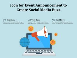 Icon For Event Announcement To Create Social Media Buzz