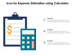 Icon For Expense Estimation Using Calculator