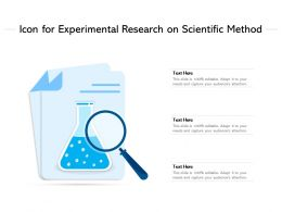 Icon For Experimental Research On Scientific Method