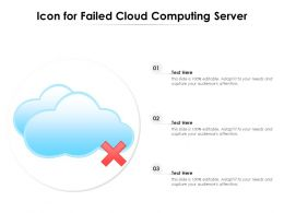 Icon For Failed Cloud Computing Server