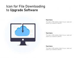 Icon For File Downloading To Upgrade Software