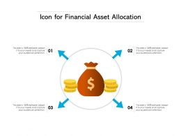 Icon For Financial Asset Allocation