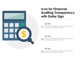 Icon For Financial Auditing Transparency With Dollar Sign