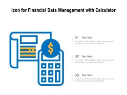Icon For Financial Data Management With Calculator