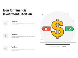 Icon For Financial Investment Decision