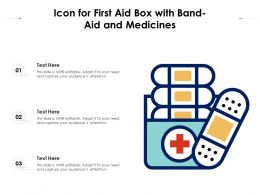 Icon For First Aid Box With Bandaid And Medicines