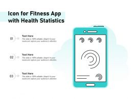 Icon For Fitness App With Health Statistics