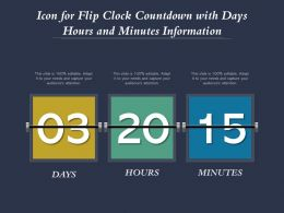 Icon For Flip Clock Countdown With Days Hours And Minutes Information