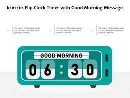 Icon For Flip Clock Timer With Good Morning Message