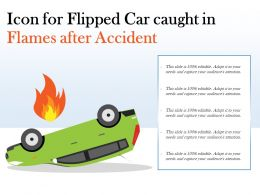 Icon For Flipped Car Caught In Flames After Accident