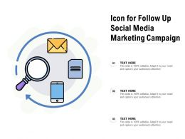Icon For Follow Up Social Media Marketing Campaign