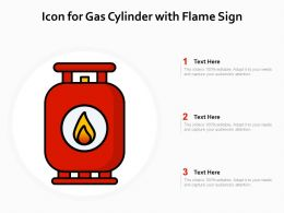 Icon For Gas Cylinder With Flame Sign