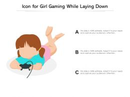 Icon For Girl Gaming While Laying Down
