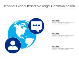 Icon For Global Brand Message Communication