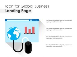 Icon For Global Business Landing Page