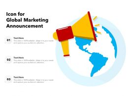 Icon For Global Marketing Announcement