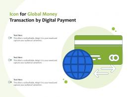 Icon For Global Money Transaction By Digital Payment