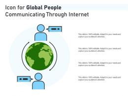 Icon For Global People Communicating Through Internet