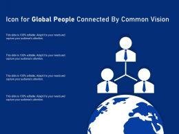 Icon For Global People Connected By Common Vision