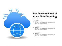 Icon For Global Reach Of AI And Cloud Technology