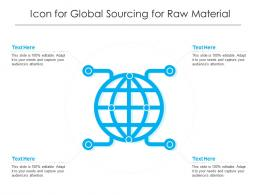Icon For Global Sourcing For Raw Material