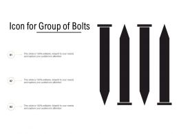 Icon For Group Of Bolts