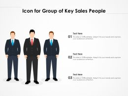 Icon For Group Of Key Sales People
