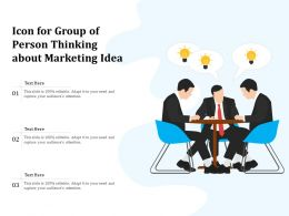 Icon For Group Of Person Thinking About Marketing Idea