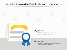 Icon For Guarantee Certificate With Conditions