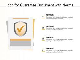 Icon For Guarantee Document With Norms