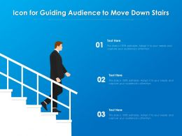 Icon For Guiding Audience To Move Down Stairs