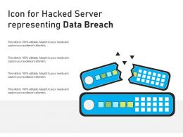 Icon For Hacked Server Representing Data Breach