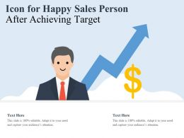 Icon For Happy Sales Person After Achieving Target