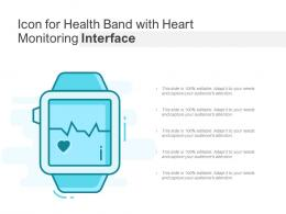 Icon For Health Band With Heart Monitoring Interface