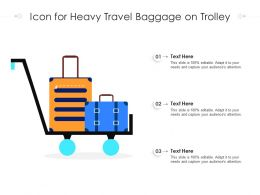 Icon For Heavy Travel Baggage On Trolley