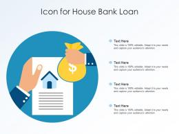 Icon For House Bank Loan