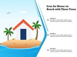 Icon For House On Beach With Three Trees