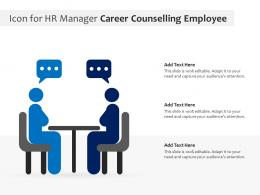 Icon For HR Manager Career Counselling Employee