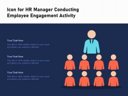 Icon For Hr Manager Conducting Employee Engagement Activity