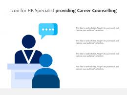 Icon For HR Specialist Providing Career Counselling