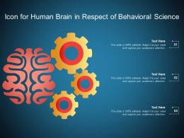 Icon For Human Brain In Respect Of Behavioral Science