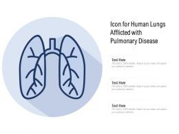 Icon For Human Lungs Afflicted With Pulmonary Disease