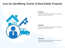 Icon For Identifying Owner Of Real Estate Property