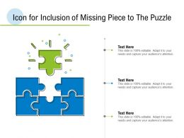 Icon For Inclusion Of Missing Piece To The Puzzle