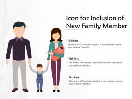 Icon For Inclusion Of New Family Member