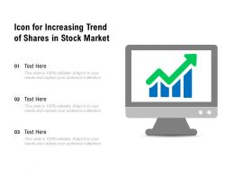 Icon For Increasing Trend Of Shares In Stock Market