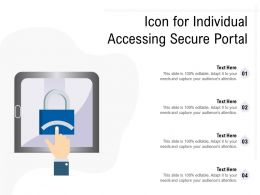 Icon For Individual Accessing Secure Portal