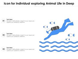 Icon For Individual Exploring Animal Life In Deep