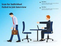 Icon For Individual Failed In Job Interview