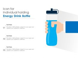 Icon For Individual Holding Energy Drink Bottle